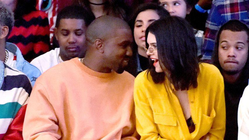Kendall Jenner und Kanye West tuscheln in LA