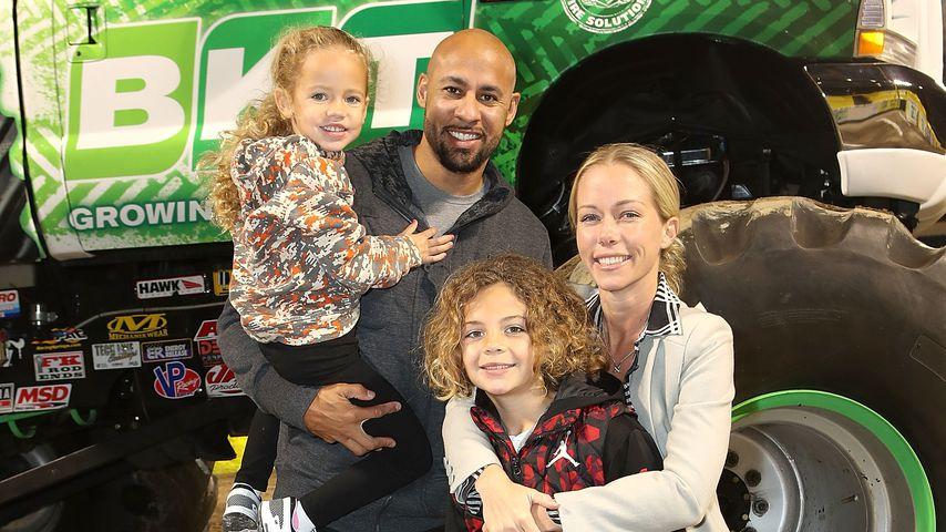 Kendra Wilkinson und Hank Baskett mit ihren Kindern Hank und Alijah