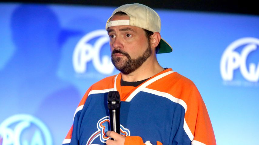 Kevin Smith während einer Konferenz in Hollywood, Kalifornien