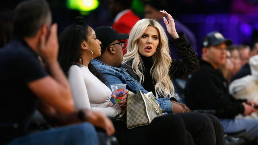 Khloe Kardashian im Staples Center in Los Angeles
