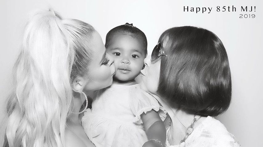 Khloe Kardashian mit ihrer Tochter True Thompson und ihrer Oma Mary Jo Shannon