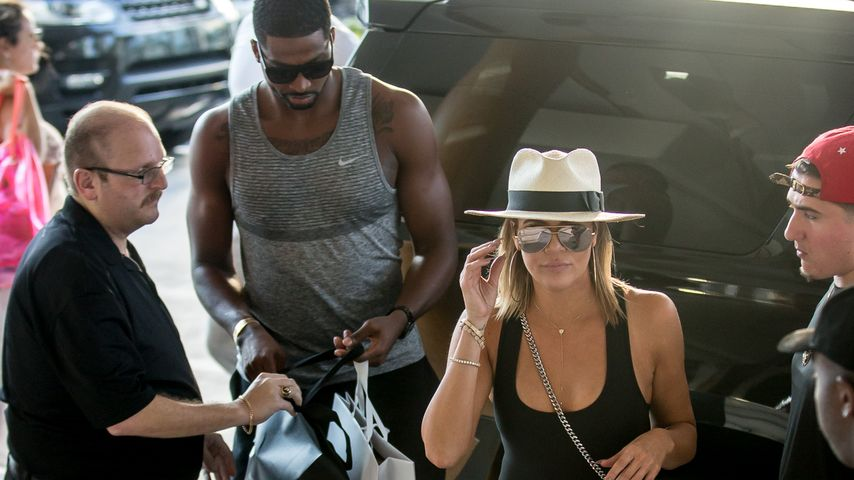 Khloe Kardashian mit Tristan Thompson in Miami