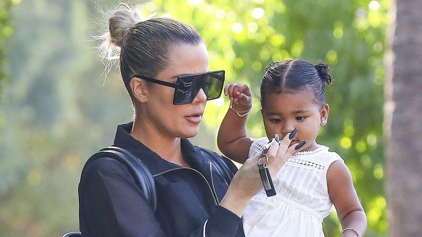 Khloe Kardashian mit Tochter True, Oktober 2019