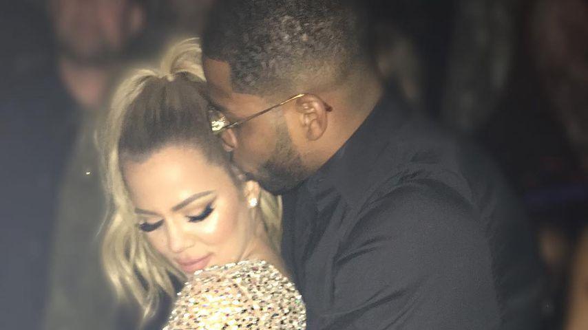 Khloe Kardashian und Tristan Thompson an Silvester