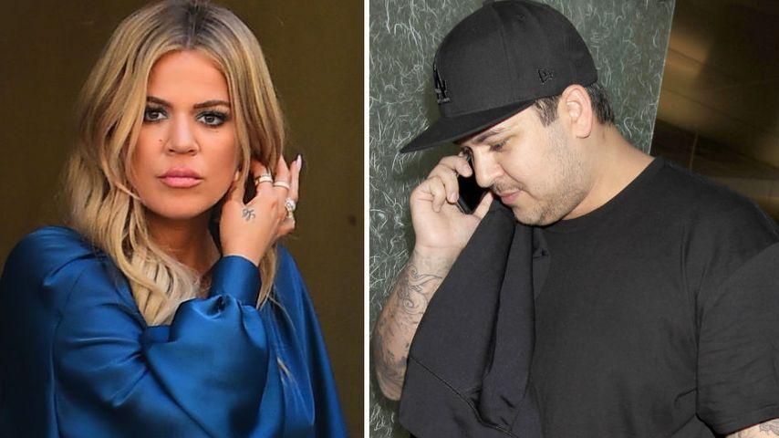 Todesangst! Khloe & Rob Kardashian in Alarmbereitschaft