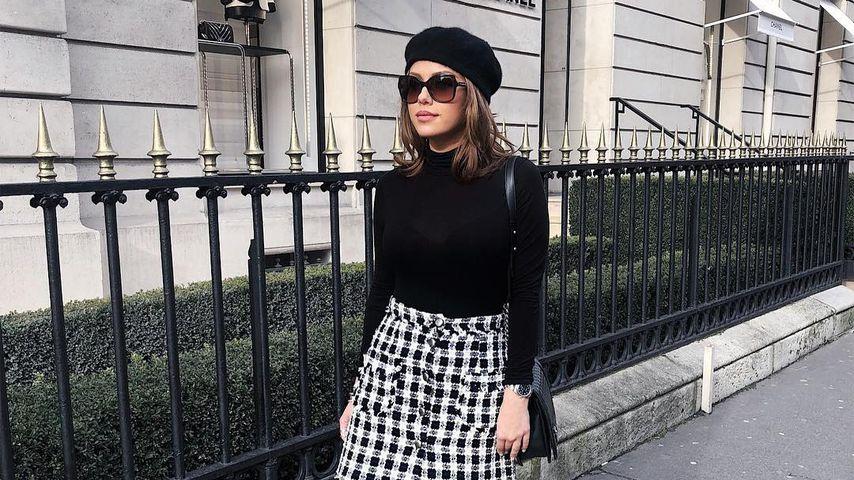 Kim Gloss während der Pariser Fashionweek 2018
