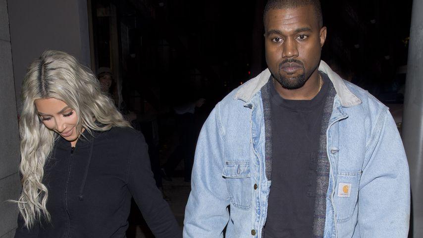Kim Kardashian und Kanye West in West Hollywood