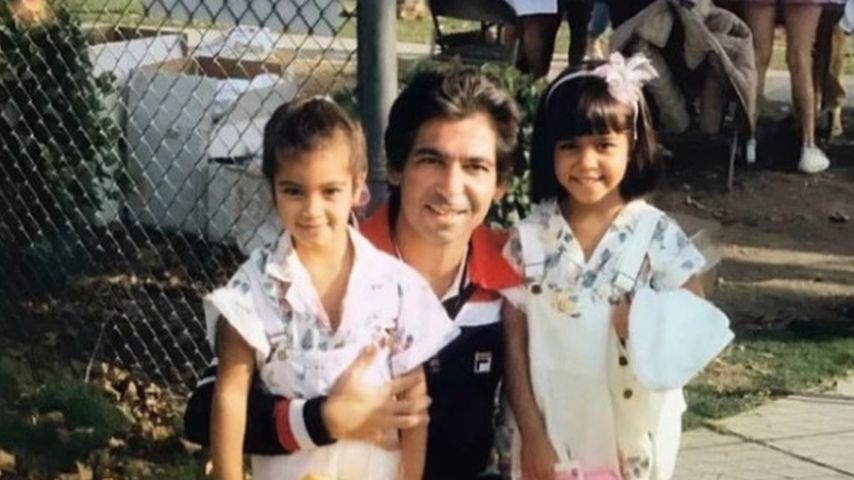 US-Star Kim Kardashian, ihr Vater Robert und Schwester Kourtney
