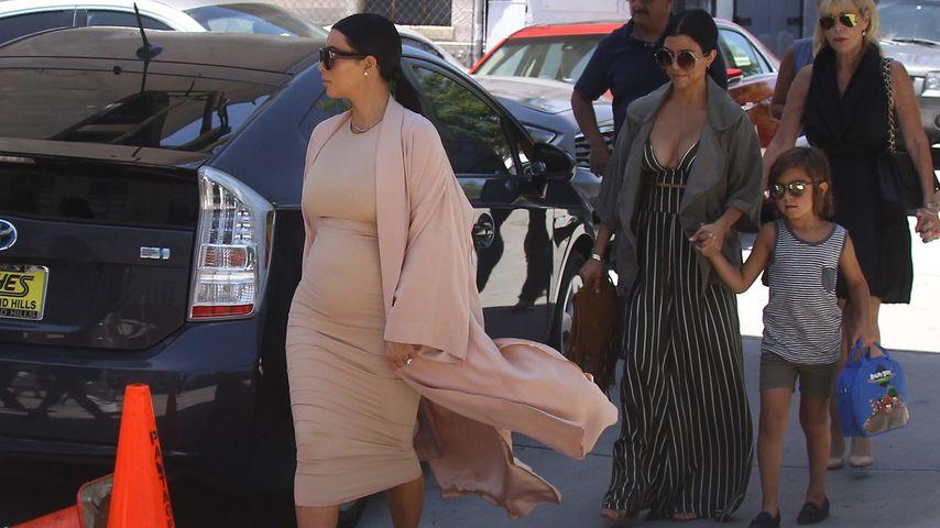 Ihr Bauch wächst! Kim Kardashian mit runder Baby-Kugel