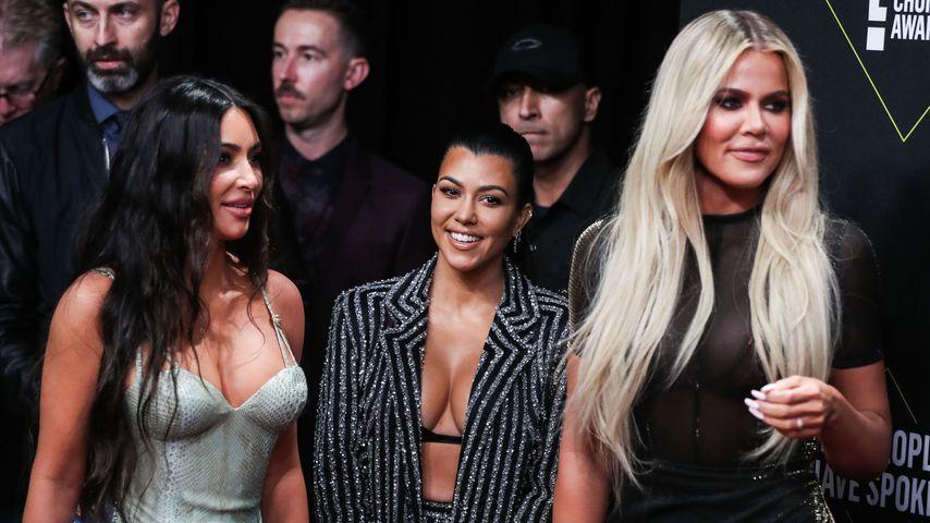 Kim Kardashian, Kourtney Kardashian und Khloé Kardashian, November 2019