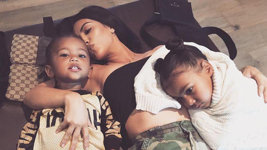 Happy-Mum: Kim Kardashian genießt Auszeit mit Saint & Nori