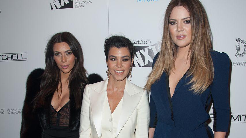 Kim Kardashian mit ihren Schwestern Kourtney und Khloe