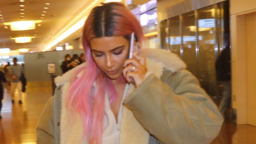 Bunt in Tokio: Kim Kardashian mit pinken Haaren in Japan!