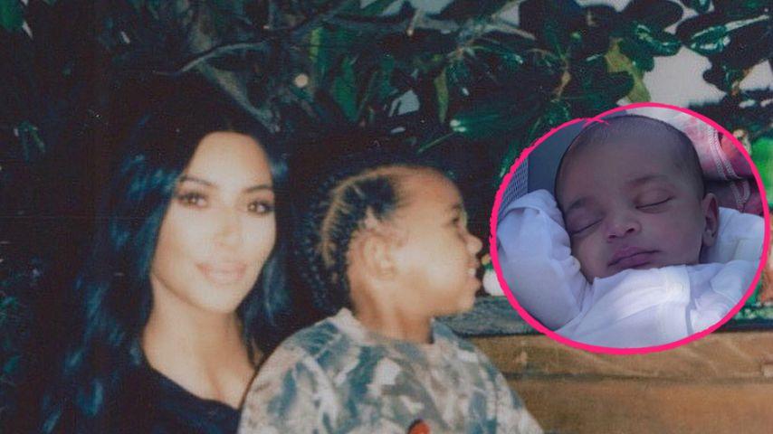 Neues Family-Pic von Kim K.: Saint kuschelt mit Psalm West!