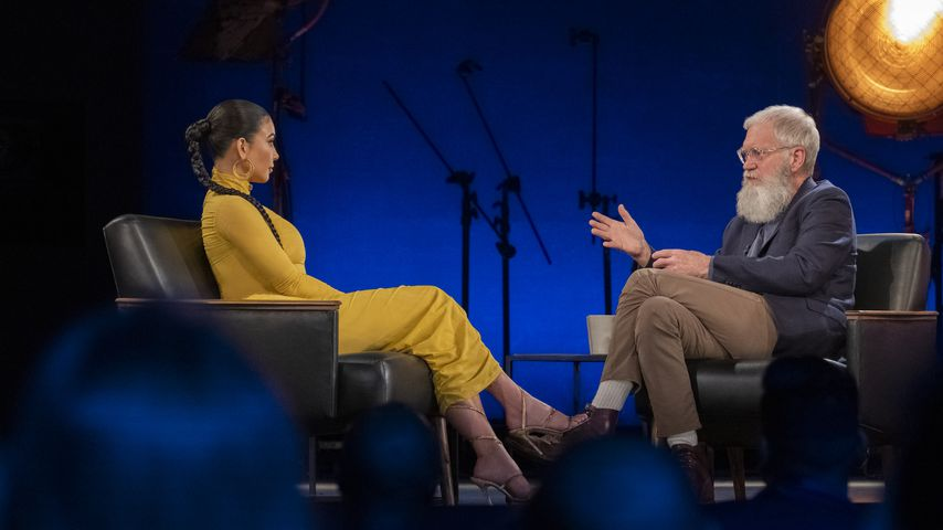 "Kim Kardashian und David Letterman bei ""My Next Guest Needs No Introduction"""