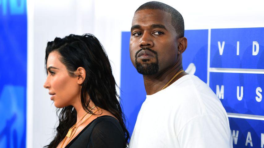 Kim Kardashian und Kanye West bei den MTV Video Music Awards 2016 in New York