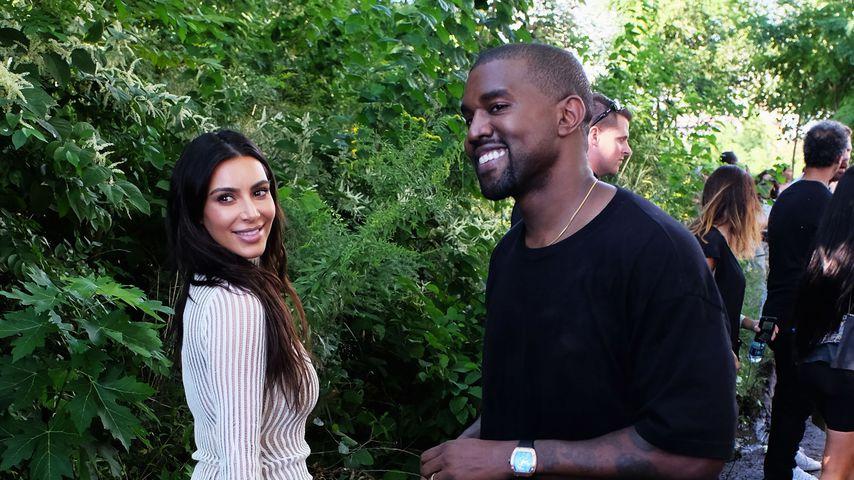 Kim Kardashian und Kanye West bei einer Fashionshow in New York 2016