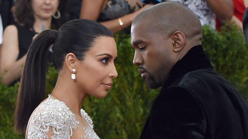 Kim Kardashian und Kanye West auf der Met Gala im Jahr 2015
