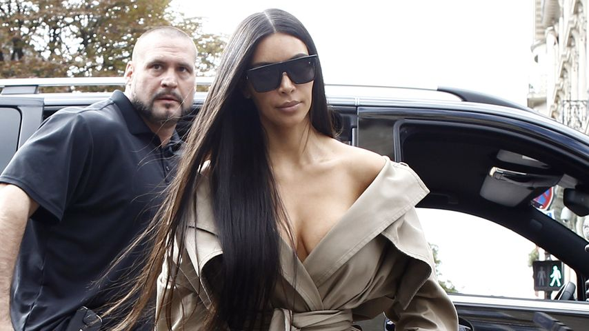 Kim Kardashian unterwegs in Paris
