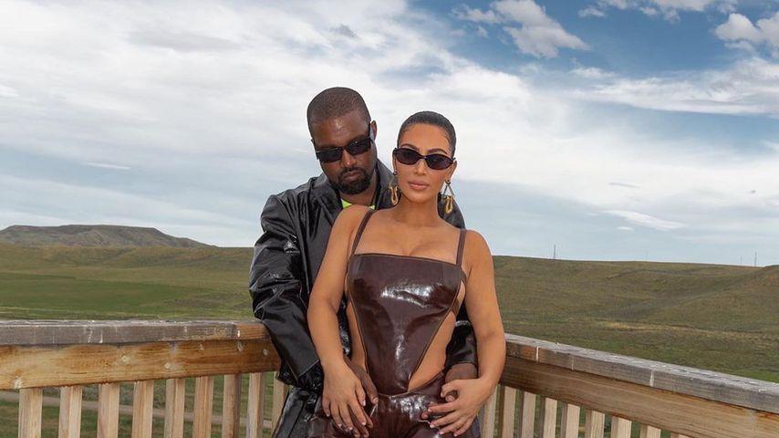 Kim Kardashian und Kanye West zusammen im Juni 2020