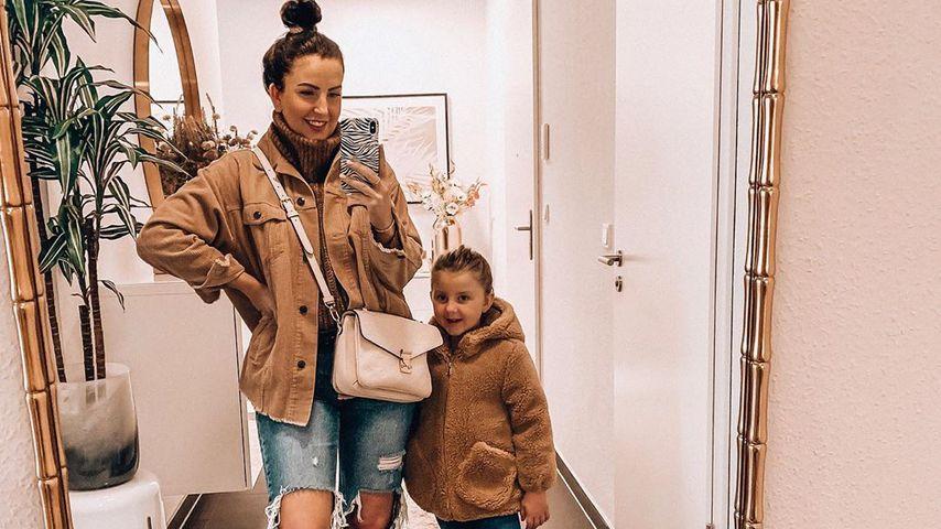Kimberly Devlin-Mania und ihre Tochter Emilia, Oktober 2019