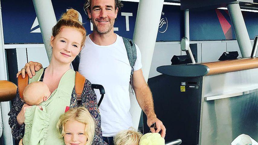 Kimberly und James Van Der Beek mit ihren fünf Kindern