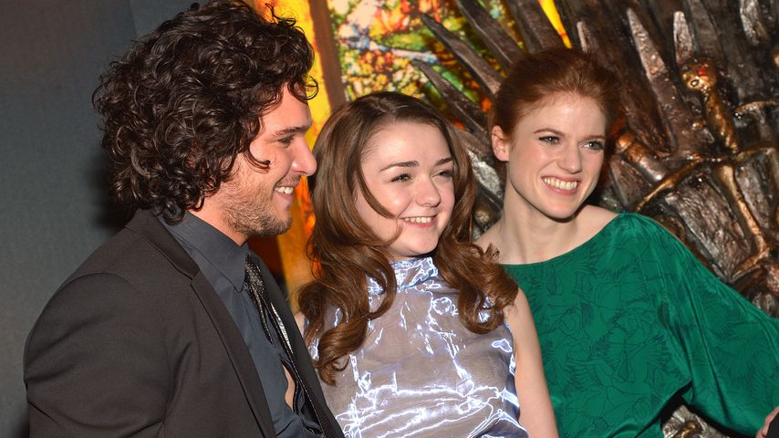 Kit Harington, Maisie Williams und Rose Leslie 2013 in New York
