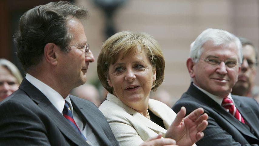 Klaus Kinkel und Bundeskanzlerin Angela Merkel