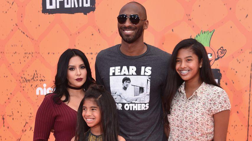 Kobe Bryant mit seiner Frau Vanessa und den Töchtern Gianna und Natalia, Juli 2016