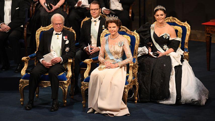 König Carl Gustaf, Königin Silvia, Prinz Daniel und Prinzessin Victoria