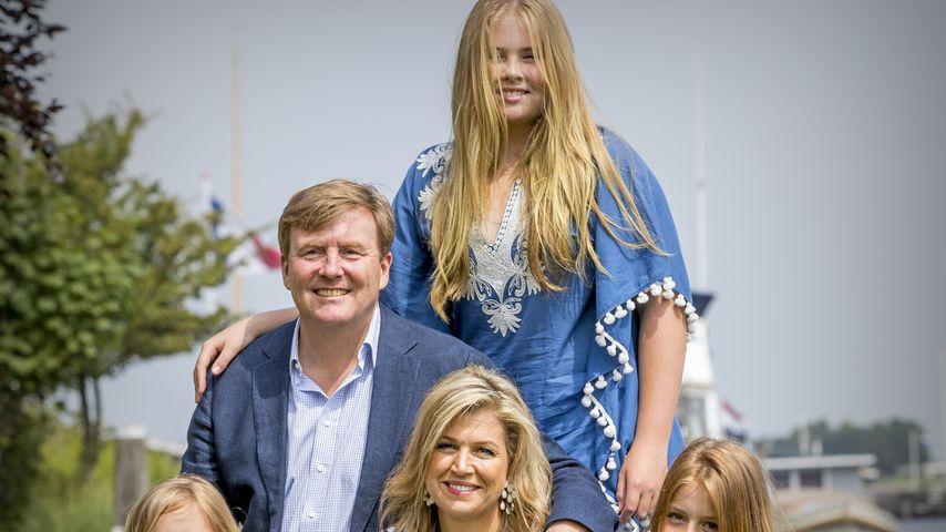 König Willem-Alexander, Königin Maxima und die Prinzessinnen Alexia, Amalia und Ariane