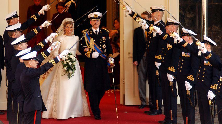 König Willem Alexander und Königin Máxima der Niederlande bei ihrer Hochzeit 2002