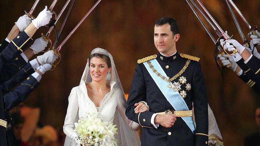 Königin Letizia und König Felipe bei ihrer Hochzeit im Mai 2004
