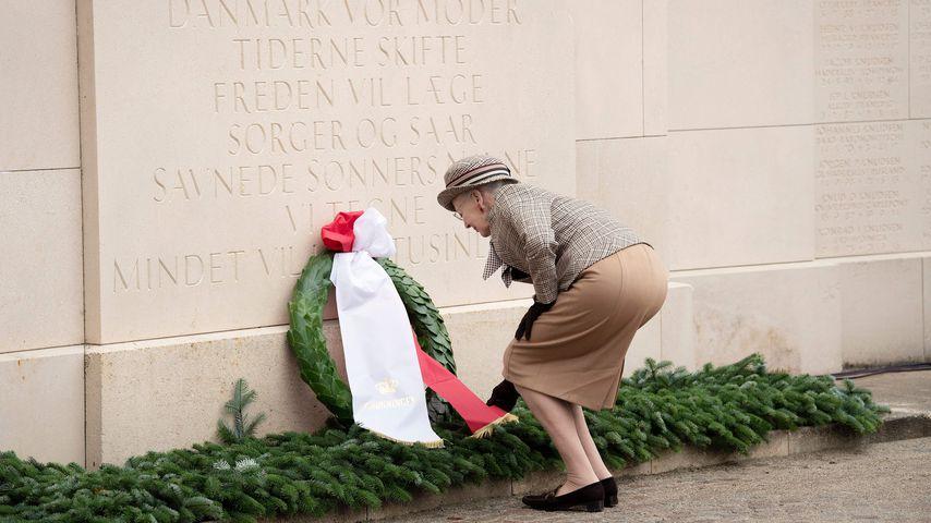 Königin Margrethe von Dänemark am 100. Gedenktag zum Ende des Ersten Weltkriegs