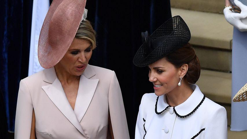 Königin Maxima der Niederlande und Herzogin Kate in Windsor, Juni 2019