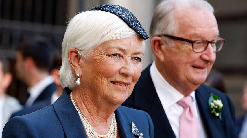 Königin Paola bei einer Hochzeit im Juli 2014