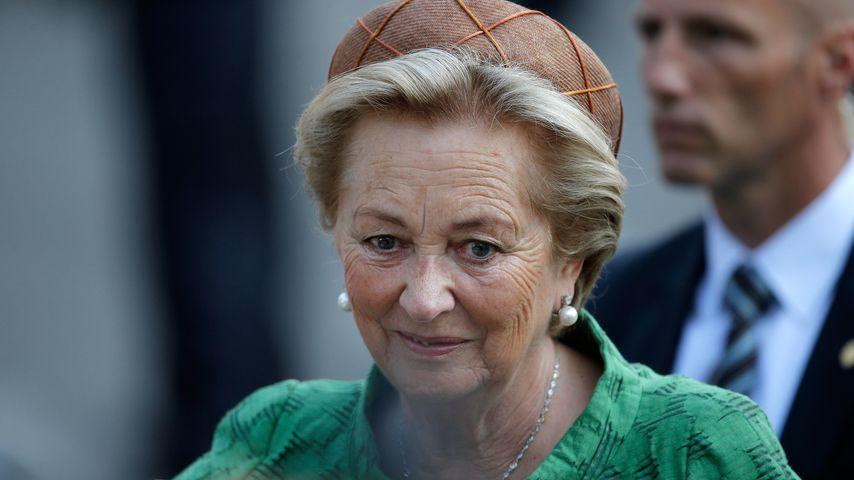 Königin Paola von Belgien bei der Krönung ihres Sohnes Philippe