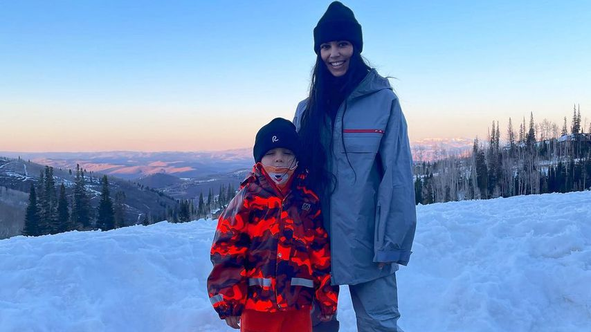 Kourtney Kardashian mit ihrem Sohn Reign