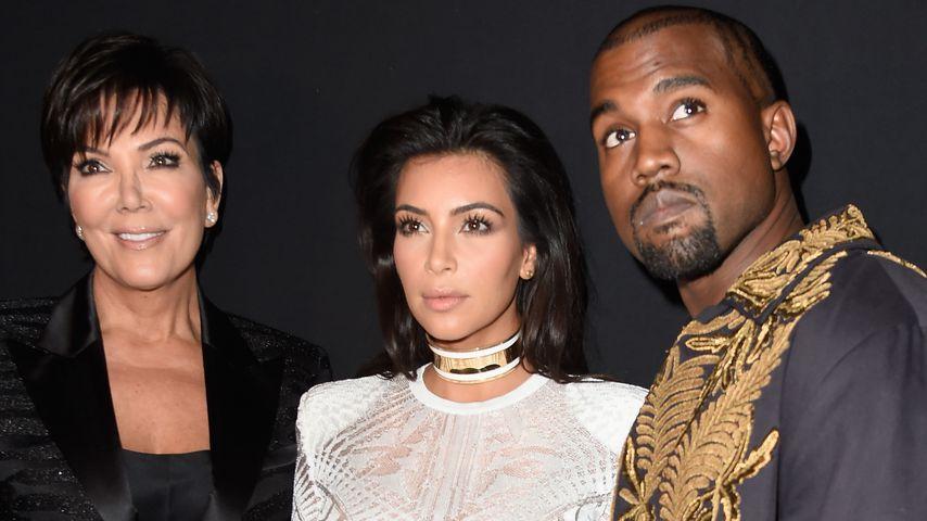 Kris Jenner steht Kim Kardashian während Krise mit Kanye bei