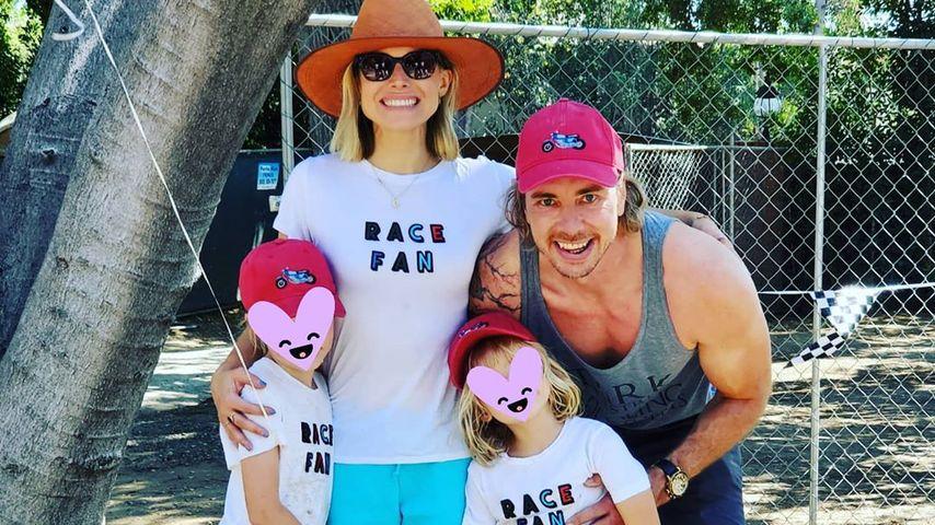 Kristen Bell und Dax Shepard mit ihren Kindern