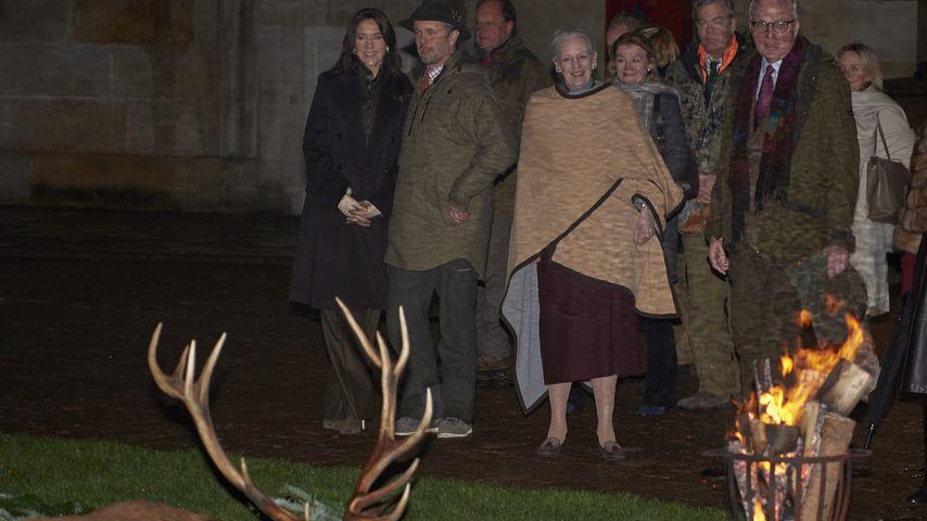 Kronprinzessin Mary, Kronprinz Frederik und Königin Margrethe in Fredensborg, November 2019