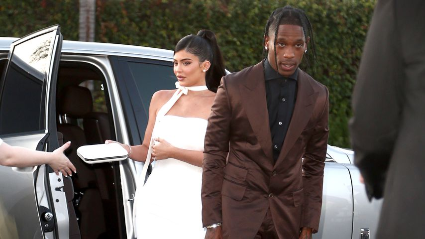 "Kylie Jenner und Travis Scott bei der ""Travis Scott: Look Mom I Can Fly""-Premiere, 2019"