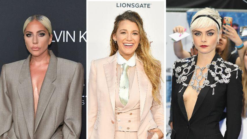 Mode-Trend: Blake Lively & Co. setzten 2018 auf Hosenanzüge