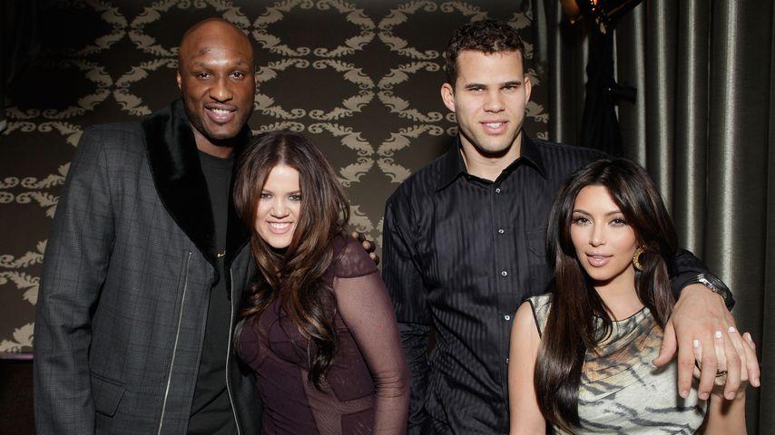 Khloe Kardashian, Kim Kardashian, Lamar Odom und Kris Humphries