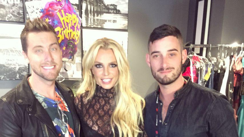 Lance Bass, Britney Spears und Michael Turchin in 2016