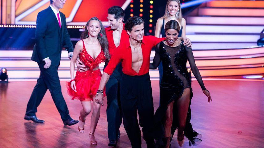 "Laura Müller, Christian Polanc, Nikita Kuzmin und und Sabrina Setlur bei ""Let's Dance"" 2020"