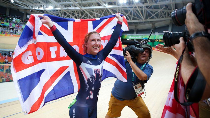 Laura Trott nach ihrem Olympia-Sieg