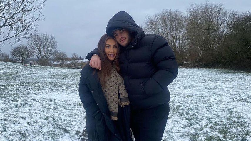 Lauren Goodger und Charles Drury im Februar 2021