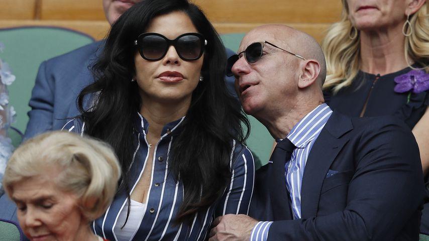 Lauren Sánchez und Jeff Bezos beim Wimbledon-Endspiel 2019
