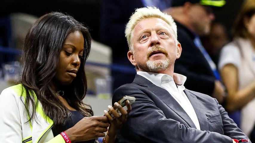 Layla Powell und Boris Becker bei den US Open 2019